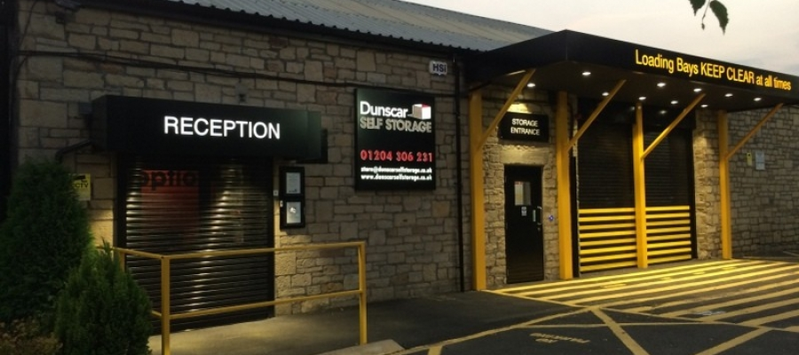 Dunscar Self Storage Night Time but still open for access!